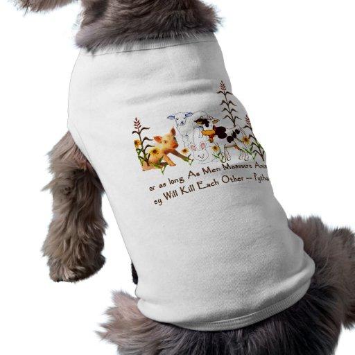 Cita vegetariana de Pitágoras Camisa De Mascota