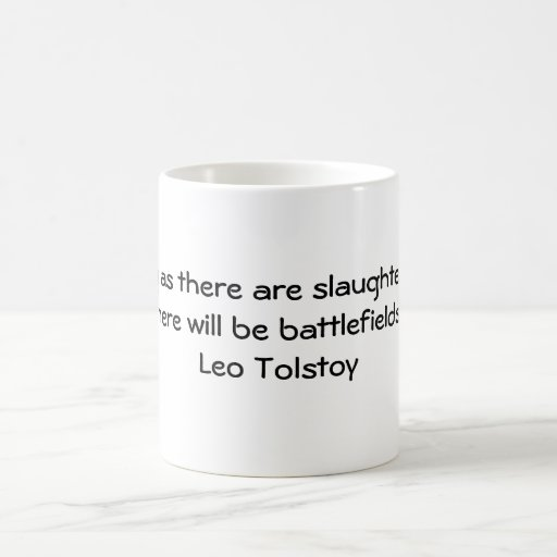 Cita vegetariana de Tolstoy Taza
