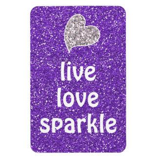 Cita viva de la chispa del amor de la púrpura