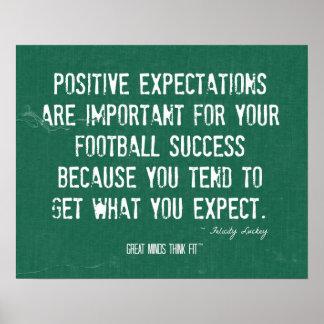 Cita y poster del éxito del fútbol