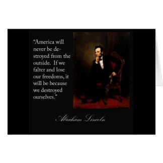 Cita y retrato de Abraham Lincoln Tarjeta De Felicitación
