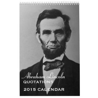 Citas 2015 de Abe Lincoln Calendarios
