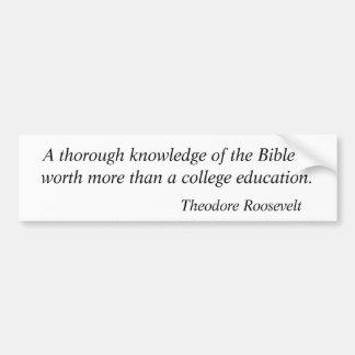 Citas 3 de Theodore Roosevelt Pegatina Para Auto