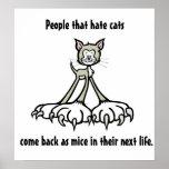 Citas 3 del gato poster