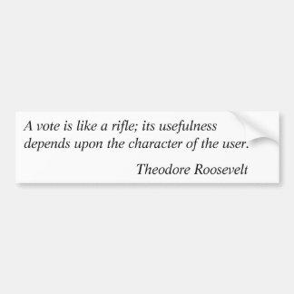 Citas 5 de Theodore Roosevelt Pegatina Para Auto