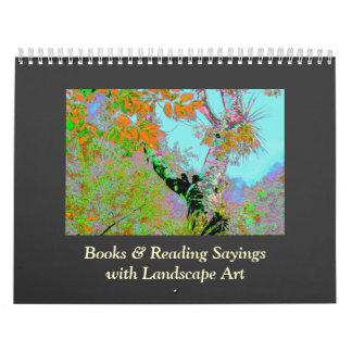 citas alteradas del arte y de los lectores calendario