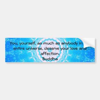 Citas budistas del espiritual de la CITA de Buda Pegatina Para Auto