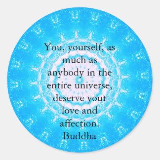 Citas budistas del espiritual de la CITA de Buda Pegatina Redonda