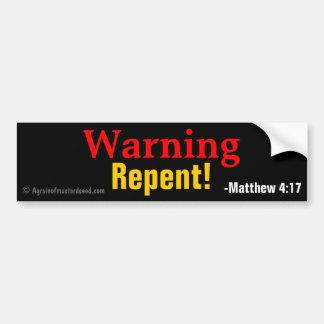 Citas cristianas pegatina para auto