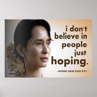 Citas de Aung San Suu Kyi Poster