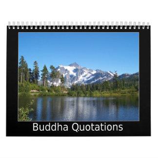 Citas de Buda Calendario