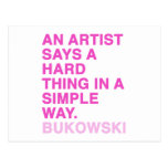 Citas de Charles Bukowski Postal