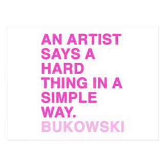 Citas de Charles Bukowski Tarjetas Postales