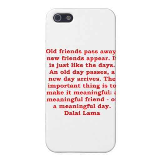 citas de Dalai Lama iPhone 5 Protectores