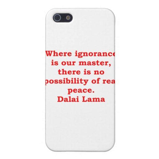 citas de Dalai Lama iPhone 5 Protector