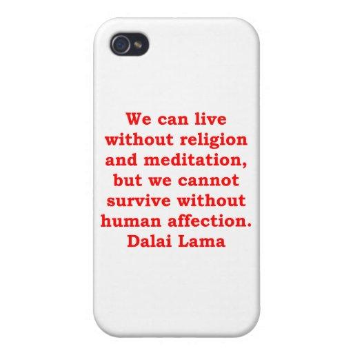 citas de Dalai Lama iPhone 4 Protector