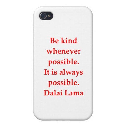 citas de Dalai Lama iPhone 4 Carcasas