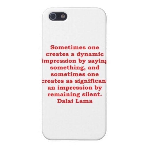 citas de Dalai Lama iPhone 5 Funda