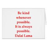 citas de Dalai Lama Tarjeta De Felicitación