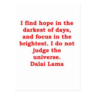 citas de Dalai Lama Tarjetas Postales