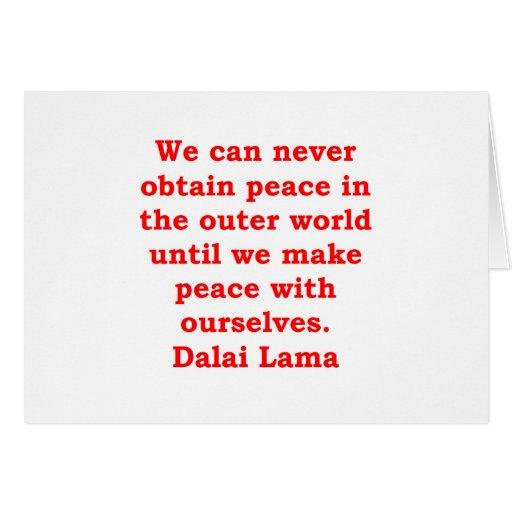 citas de Dalai Lama Tarjetón