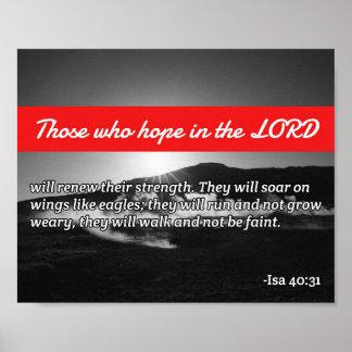 """Citas de dios: 40:31 de Isaías -- Las """"alas de Póster"""