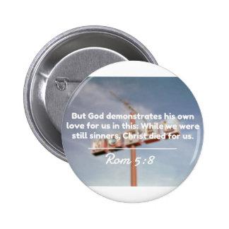 "Citas de dios: 5:8 de la ROM -- ""Cristo murió por Pin Redondo 5 Cm"