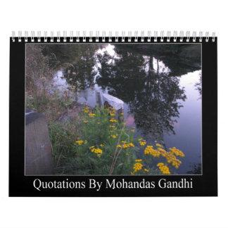 Citas de Gandhi Calendario De Pared