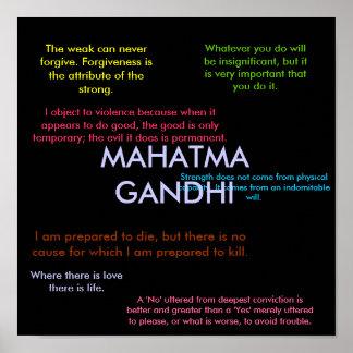 Citas de Gandhi Póster