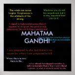 Citas de Gandhi Posters