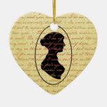 Citas de Jane Austen y día de fiesta del navidad Ornamentos De Reyes