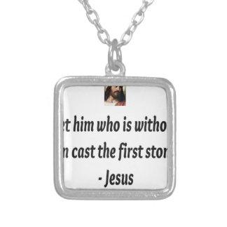 Citas de Jesús Colgante Cuadrado