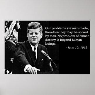 Citas de John F. Kennedy Póster