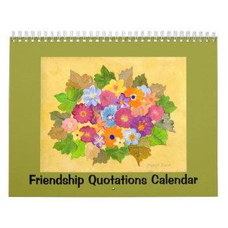 citas de la amistad calendarios