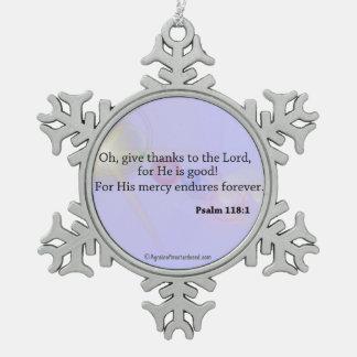Citas de la biblia adorno de peltre en forma de copo de nieve
