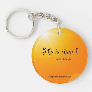 Citas de la biblia de Pascua Llavero Redondo Acrílico A Doble Cara
