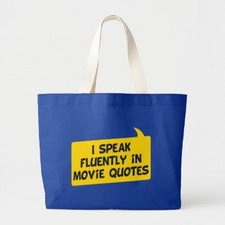 Citas de la película bolsa tela grande