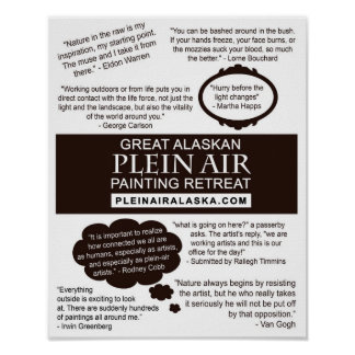 Citas de la pintura del artista del aire de Plein Póster