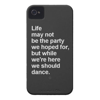 citas de la vida iPhone 4 protector