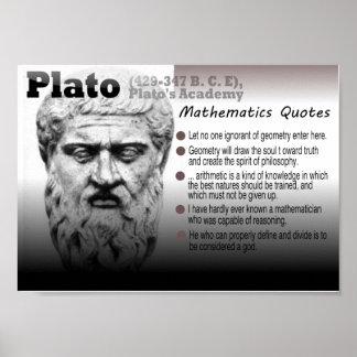 Citas de las matemáticas de Platón Poster