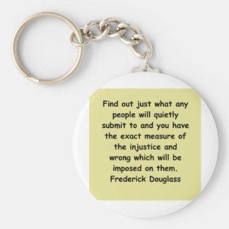 citas de los douglass del frederick llavero personalizado