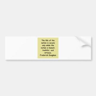 citas de los douglass del frederick pegatina para auto