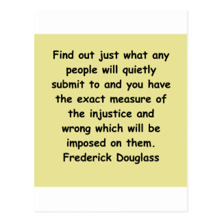 citas de los douglass del frederick postales