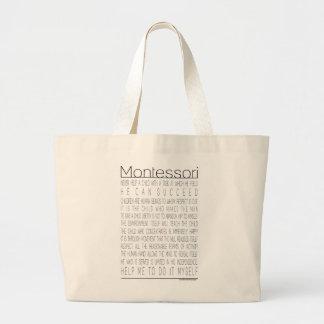 Citas de Maria Montessori Bolsa Lienzo