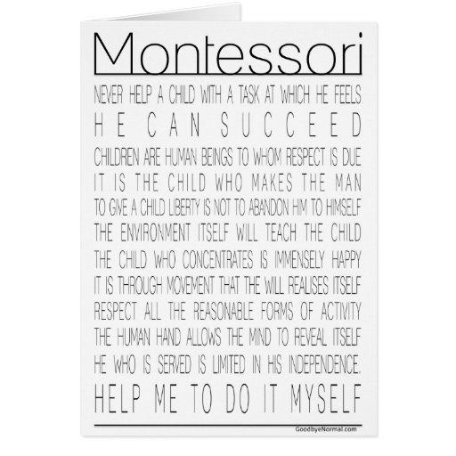 Citas de Maria Montessori Tarjeta