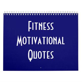 Citas de motivación de la aptitud calendarios de pared
