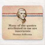 Citas de Thomas Jefferson Alfombrilla De Ratón