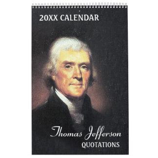Citas de Thomas Jefferson Calendarios De Pared