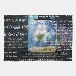 Citas de William Shakespeare sobre amor Toallas De Cocina