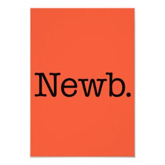 """Citas del argot de la cita de Newb del naranja y Invitación 3.5"""" X 5"""""""